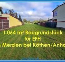 Baugrundstück für EFH in Merzien bei Köthen